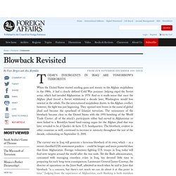 Blowback Revisited
