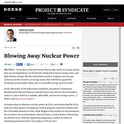 """Blowing Away Nuclear Power"" by Christian Kjaer"