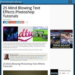 25 Mind Blowing Text Effects Photoshop Tutorials - StumbleUpon
