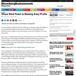 Where Wind Power Is Blowing Away Profits