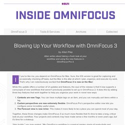 Blowing Up Your Workflow with OmniFocus 3 - Inside OmniFocus