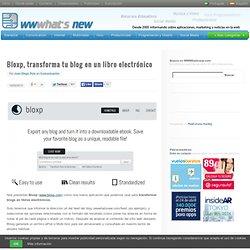 Bloxp, transforma tu blog en un libro electrónico