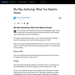 Blu Ray Authoring: What You Need to Know!