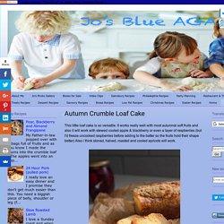 Jo's Blue AGA: Autumn Crumble Loaf Cake