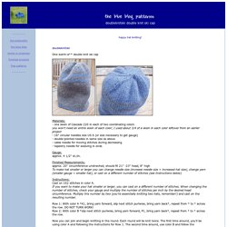 the blue blog patterns: double knit cap