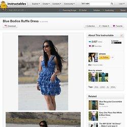 Blue Bodice Ruffle Dress