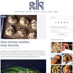 Biscuits au bleu et ciboule