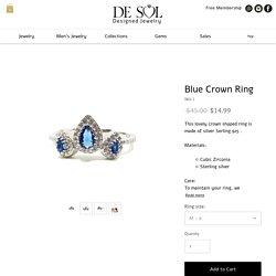 Blue Crown Ring