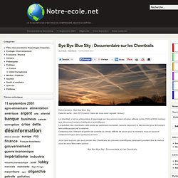 Bye Bye Blue Sky : Documentaire sur les Chemtrails