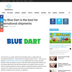 Why Blue Dart is the best for international shipments