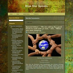 Blue Star Transmissions | Blue Star Speaks