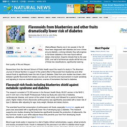 Flavonoids from blueberries and other fruits dramatically lower risk of diabetes