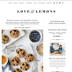 Blueberry Lemon Zest Breakfast Cookies Recipe
