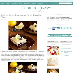 Blueberry Lemon Brownies with White Chocolate Glaze