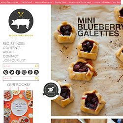 Mini Blueberry Galette recipe