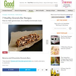 Blueberry and Maple Granola Bar Recipe - Homemade Granola Bars