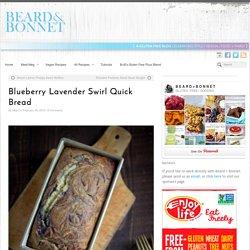 Blueberry Lavender Swirl Quick Bread