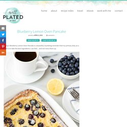 Blueberry Lemon Oven Pancake