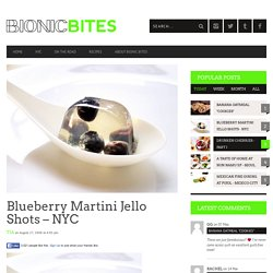 Blueberry Martini Jello Shots – NYC