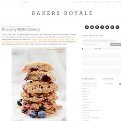 Blueberry Muffin Cookies | Bakers Royale