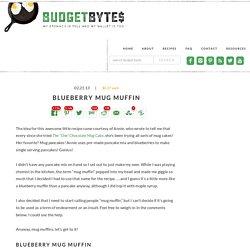 Budget Bytes: blueberry mug muffin $0.37 each