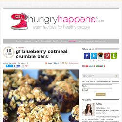 gf blueberry oatmeal crumble bars
