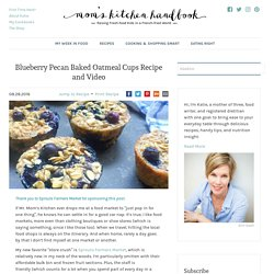 Blueberry Pecan Baked Oatmeal Cups