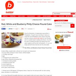 Red, White and Blueberry Philly Cheese Pound cake
