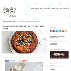 Lemon and Blueberry Protein Coffee Cake