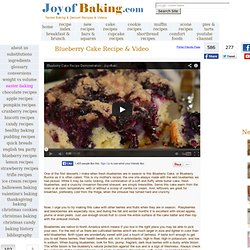 Blueberry Cake Recipe With Picture