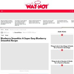 Blueberry Smoothie: A Super Easy Blueberry Smoothie Recipe