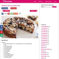 Blueberry Almond Coffee Cake - Weight Watchers Recipes