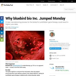 Why bluebird bio Inc. Jumped Monday