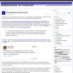 The Bluebook stole my IP » Statements of Interest
