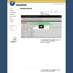 Bluefish Editor : Movies & Screenshots