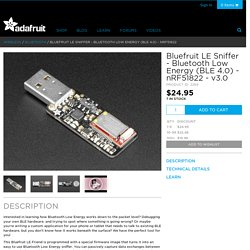 Bluefruit LE Sniffer - Bluetooth Low Energy (BLE 4.0) - nRF51822 [v3.0] ID: 2269 - $24.95