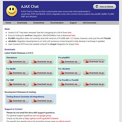 AJAX Chat - Open Source Web Chat