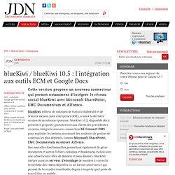 blueKiwi / blueKiwi 10.5 : l'intégration aux outils ECM et Google Docs - Journal du Net Solutions