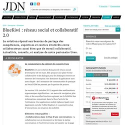 BlueKiwi : Réseau social et collaboratif 2.0