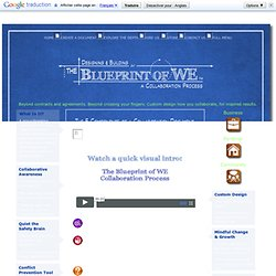 Blueprint of WE Collaboration Document