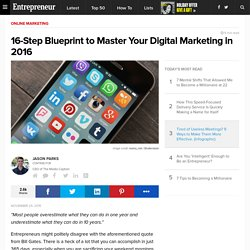 16-Step Blueprint to Master Your Digital Marketing in 2016