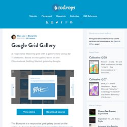 Blueprint: Google Grid Gallery