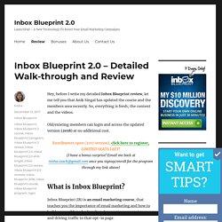 Inbox Blueprint 2.0 Review - Members Area Walkthrough