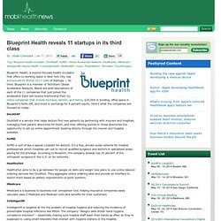 Blueprint Health reveals 11 startups in its third class