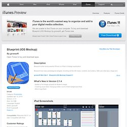 Blueprint for iPad on the iTunes App Store