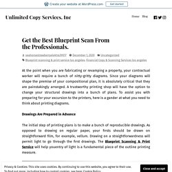 Get the Best Blueprint Scan From the Professionals.