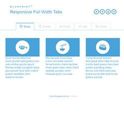 Blueprint: Responsive Full Width Tabs