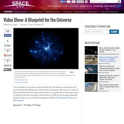 Video Show: A Blueprint of the Universe