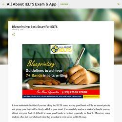 Blueprinting: Best Essay for IELTS