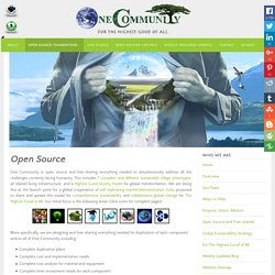 Open Source Project-launch Blueprinting Complete Civilizations for a Sustainable Planet